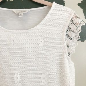 Charming Charlie Floral Lace Top